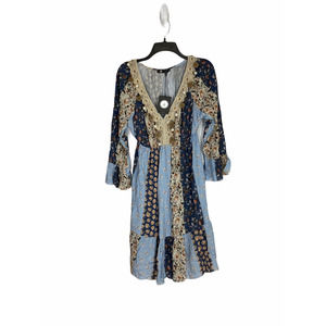 M Made in Italy Boho Patchwork Sea Shell Dress M